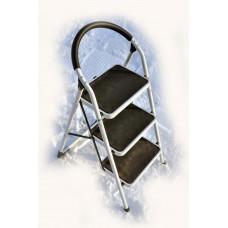Стремянка SevenBerg Prima Lux белая с 3-мя широкими ступенями