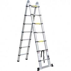 Телескопическая лестница стремянка SevenBerg QH 2x7 ступеней (2,2 м.+2,2 м.)