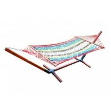 Гамак плетеный радуга (бес каркаса)