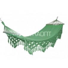 Гамак тканный с бахромой RUFUS зеленый