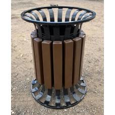Урна для мусора Корона с деревянным обрамлением (УМ-4)