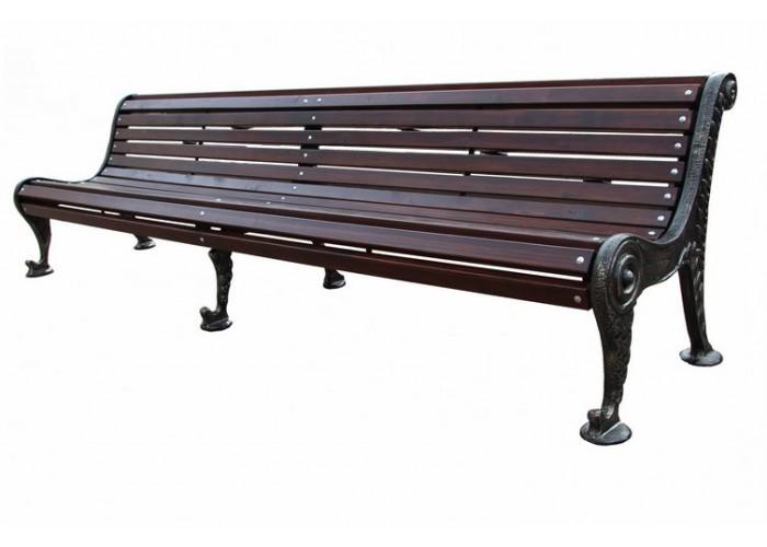 Чугунная парковая скамейка Бриз 3 м.