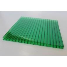 Сотовый поликарбонат 4 мм. зеленый