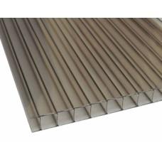 Сотовый поликарбонат 4 мм. бронза