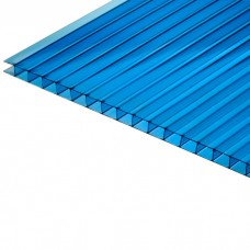 Сотовый поликарбонат 4 мм. синий