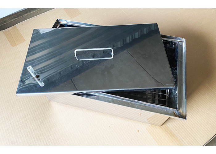 Коптильня Ольховый дым эконом 400х200х200 (толщина 1 мм с гидрозамком сталь 430)
