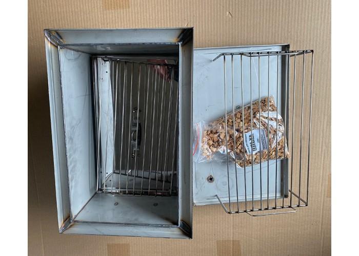 Коптильня Ольховый дым Престиж 500х350х300 (толщина 2 мм сталь 304 не магнит.) с гидрозатвором