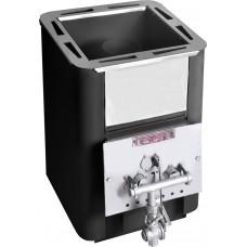 Печь банная Колибри 9У антрацит (с возможностью применения газовой горелки+ портал)